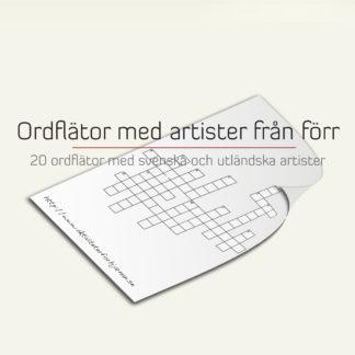ordflator med artister